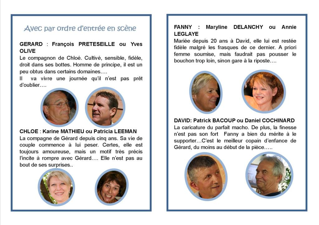 Page intérieur du programme UN PETIT SERVICE